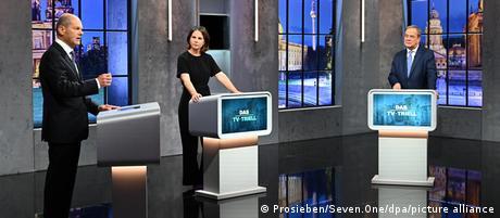 Bundestagswahl 2021 3. TV-Triell Kandidaten
