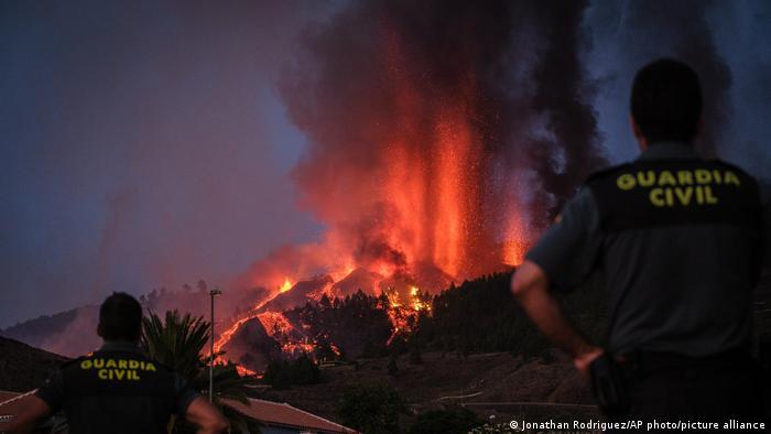 Erupción del volcán Cumbre Vieja en La Palma.