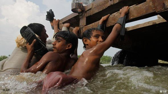 Many of the flood victims are children