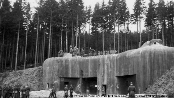 Vojnici nacističke Njemačke na utvrdi Bouda (listopad 1938.)