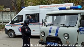 Аварийно-спасательные службы и машины скорой помощи на территории университета