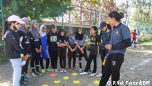 by Rifat Fareed 1. Nadiya Nighat, a football coach training young girls in the main city of Srinagar.