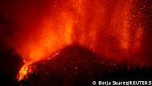 Erupción del Volcán de Cumbre Vieja, en La Palma.