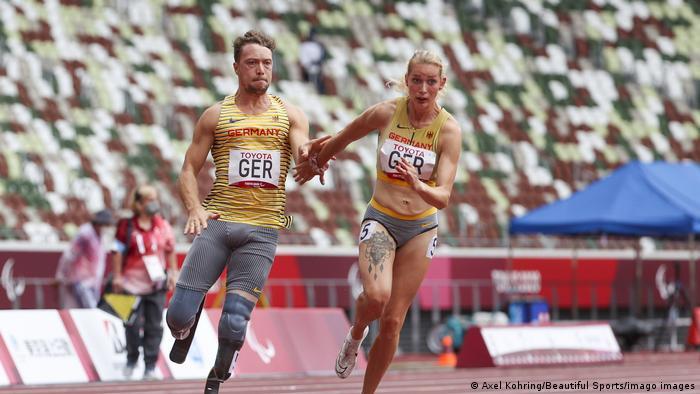 Tokio 2020 Paralympics 4x100m-Staffel mit David Behre