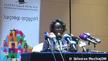 Soliana Shimelis, National Election Board of Ethiopia (NEBE) communication head, 20.09.2021.