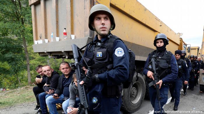 Kosovo Jarinje | Polizeiaufgebot an der Kosovo- serbischen Grenze