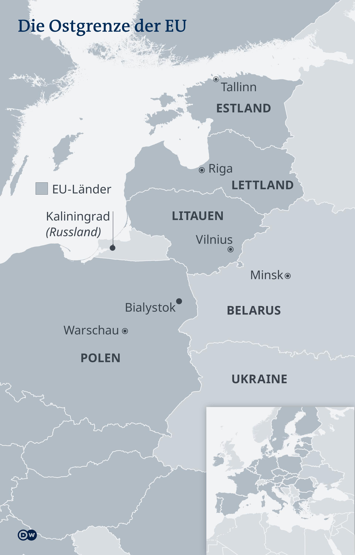 Infografik Karte Ostgrenze EU DE