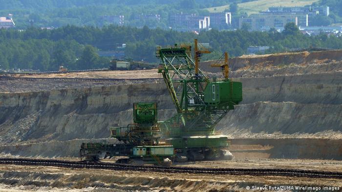 The open-cast lignite mine in Turow