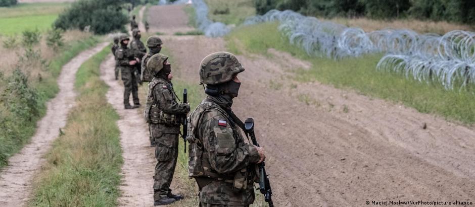 На польсько-білоруському кордоні