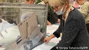 На избирательном участке в Санкт-Петербурге
