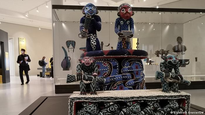 'Mandu Yenu' throne from Cameroon displayed at the Humboldt Forum Berlin