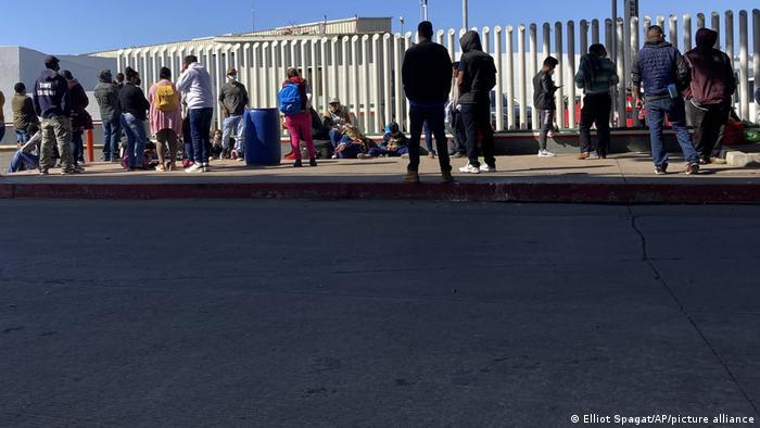 Migranten an der US-Grenze zu Mexiko