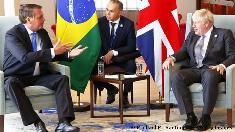 Foto de Jair Bolsonaro y Boris Johnson