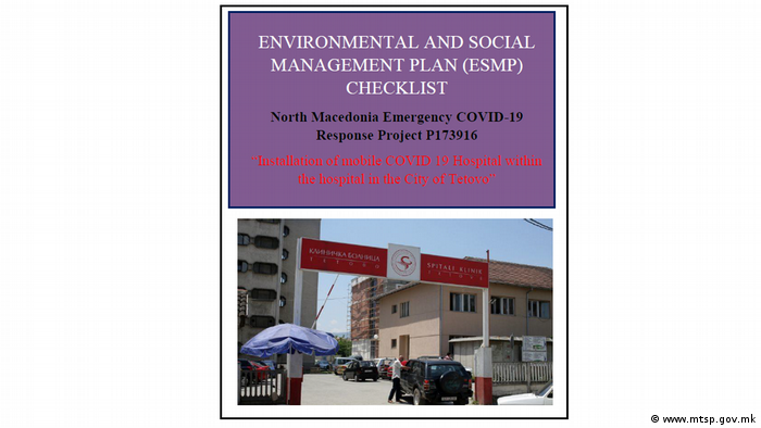 Umwelt- und Sozialmanagementplan für das Covid Zentrum in Tetovo, Nordmazedonien