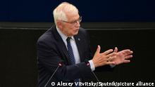14.09.2021 6650892 14.09.2021 High Representative of the European Union for Foreign Affairs and Security Policy Josep Borrel speaks at a plenary session of the European Parliament in Strasbourg, France. Alexey Vitvitsky / Sputnik