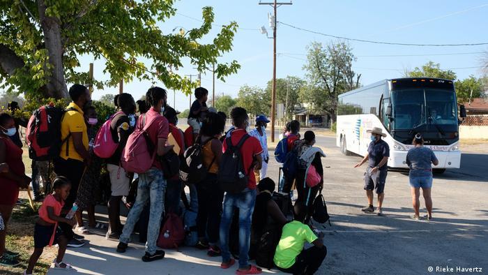 US-Grenzstadt Del Rio   Flüchtlinge aus Haiti