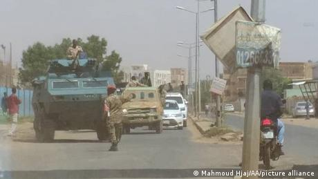 Sudanese soldiers patrolled major intersections in Khartoum on Tuesday