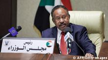 Sudanese Prime Minister Abdalla Hamdok at a cabinet meeting in September 2021