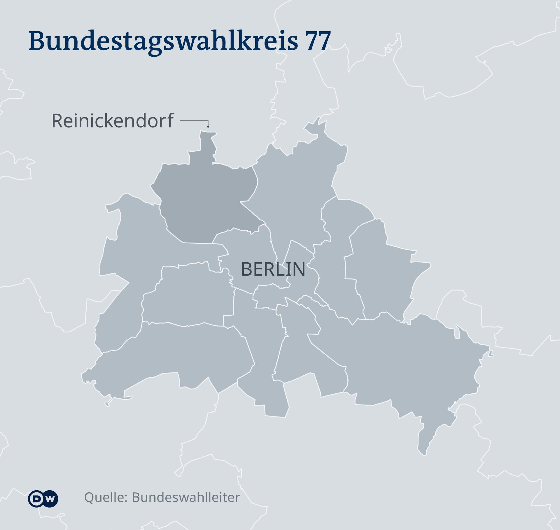 Karte - Wahlbezirke Berlin - DE