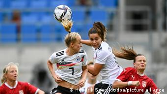 Germany against Serbia in World Cup qualifying