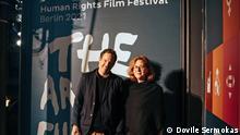 Jan Sebastian Friedrich-Rust Rechts: Anna Ramskogler-Witt Human Rights Film Festival, Berlin 21.09.2021 Fotograf: Dovile Sermokas