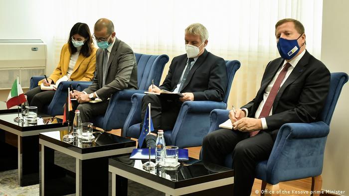Kosovo Premierminister Treffen Albin Kurti QUINT Botschafter