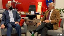 Der iranische aussenminister hat in new york mit Josep Borrel EU beaufftragte füe Außenpolitik getroffen, 21.09.2021 https://cdn.isna.ir/d/2021/09/22/3/62037387.jpg