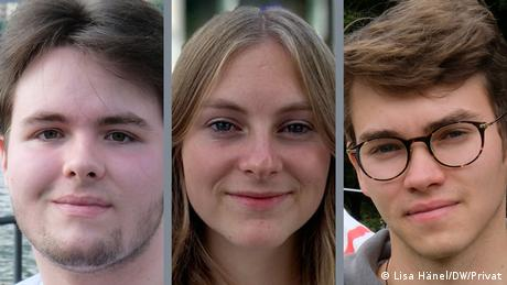 Cornelius, Thurid and Jona will all vote for the first time on Sunday in Germany