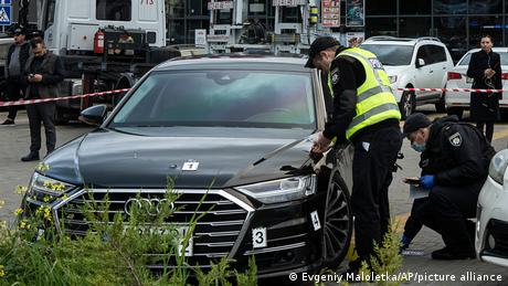 Police collect evidence of Zelenskyy's aide's car