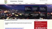 Website Gemeinde Tetovo, Nordmazedonien Datum: 22.09.2021