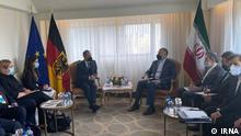 *** Bitte nur in Zusammenhang mit der Berichterstattung verwenden *** Bundesaußenminister Heiko Maas trifft am Rande der Uno-Generalversammlung der iranischen Außenminister Hussein Amirabdollahian.