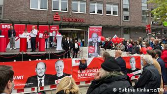 Όλαφ Σολτς σε προεκλογική συγκέντρωση