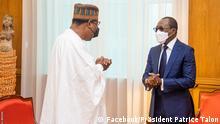 Treffen ehemaliger beninischer Präsident Thomas Boni Yayi und Amtskolleger Patrice Talon in Cotonou.