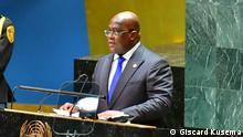 *** Bitte nur in Zusammenhang mit der Berichterstattung verwenden *** 21.09.2021 Kongolesischer Präsidenten Félix Tshisekedi, der an der UN-Jahresversammlung in New York teilnimmt.