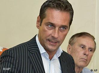 Austrian Freedom Party leader Heinz Christian Strache