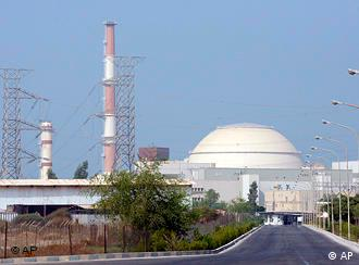 The reactor building at Iran's Bushehr nuclear power plant