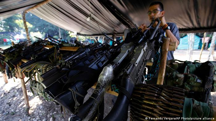 Armas de las FARC.