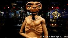 A model from E.T. The Extra-Terrestrial is pictured during a media preview ahead of the opening of the Academy Museum of Motion Pictures in Los Angeles, California, U.S., September 21, 2021. REUTERS/Mario Anzuoni
