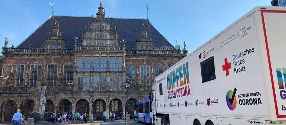 Deutschland Bremen   Höchste Impfquote   Impfmobil