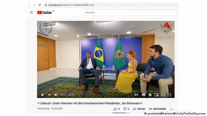 Jair Bolsonaro dá entrevista a negacionistas alemães