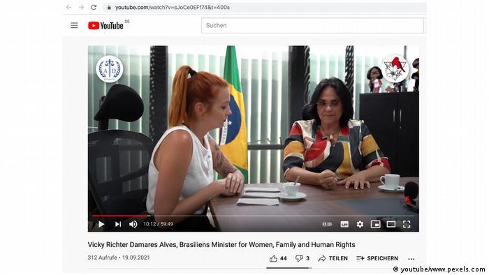 Vicky Richter entrevista a ministra Damares Alves