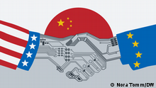 Wary of China, US and EU forge alliance on technology