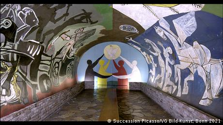 Picasso's mural War and Peace
