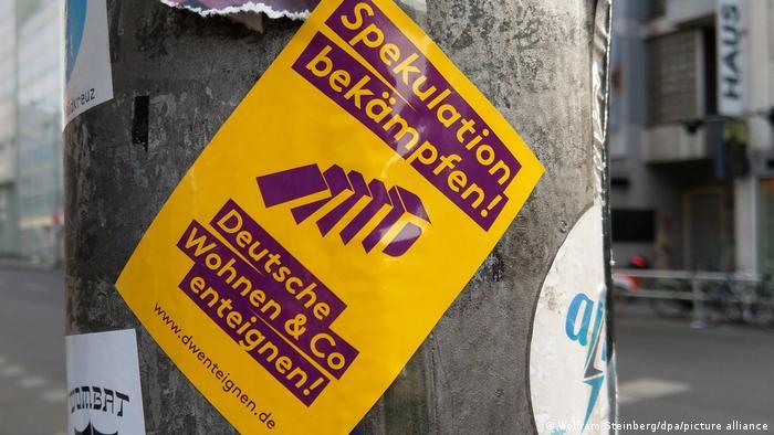 Листовка сторонников экспроприации жилья в Берлине, апрель 2019 года