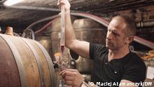 Polnischer Weinproduzent Andrzej Greszta in Kröv an der Mosel Datum/Ort: 28 August in Kröv an der Mosel