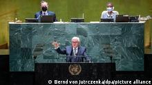 Presidente alemão, Frank-Walter Steinmeier, discursa na Assembleia-Geral da ONU
