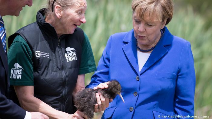 Angela Merkel and a Kiwi