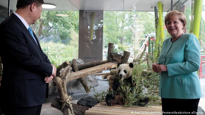 Angela Merkel with the Berlin panda