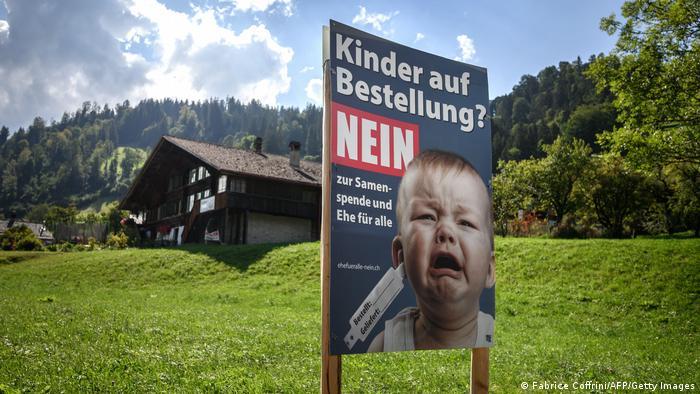 Schweiz Kampagne gegen die Ehe für alle