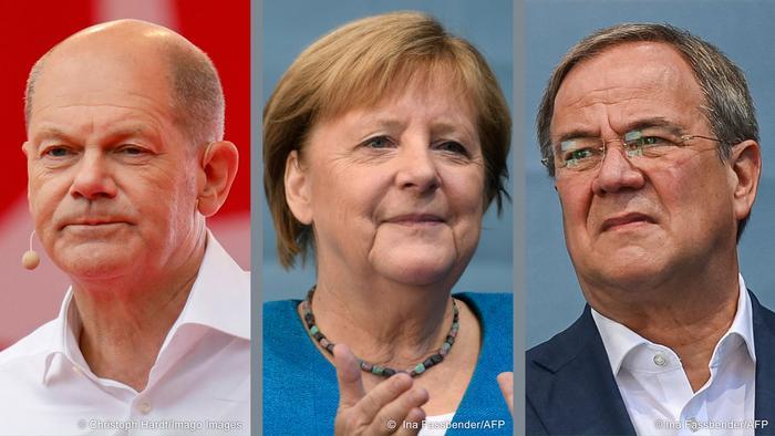 Merkel'den boşalacak koltuğa SPD'li Scholz mu (solda), CDU'lu Laschet mi (sağda) geçecek?